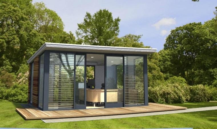 casa studio esterno giardino pareti vetrate