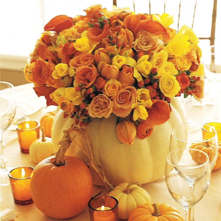 centrotavola autunnali buquet fiori stagionali