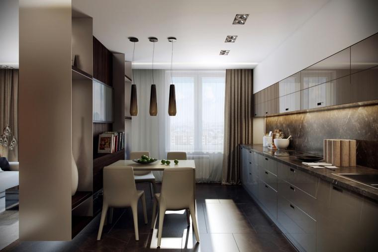 colore beige cucina moderna elegante