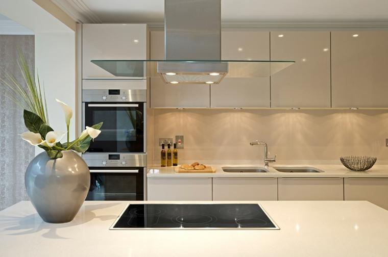 colore beige semplice pulita cucina