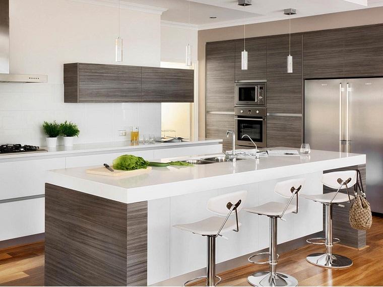 Emejing cucina legno bianca contemporary ideas design - Cucina bianca e legno naturale ...