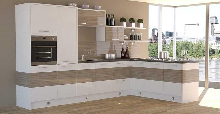 Come arredare una cucina con mobili bianchi e legno - Cucina legno bianco ...