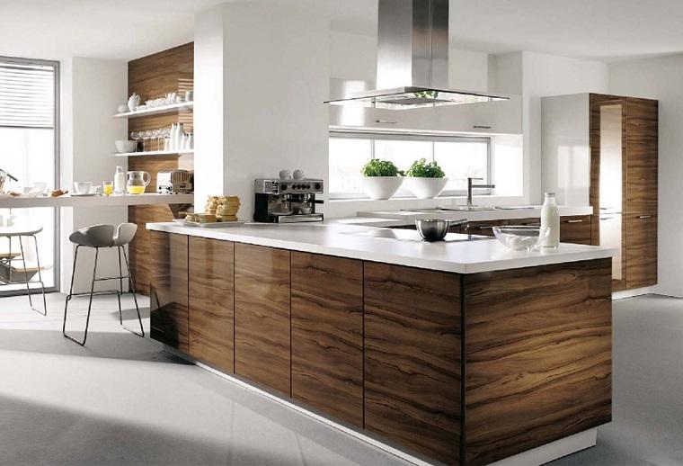 Mobili In Legno Bianco : Come arredare una cucina con mobili bianchi e legno archzine