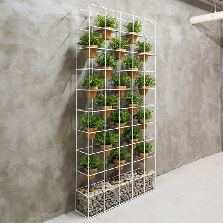 contenitore ingegnoso ferro coltivare piante