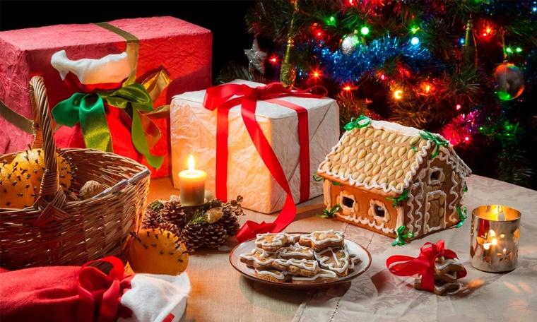 creazioni natalizie biscotti pigne candele profumate