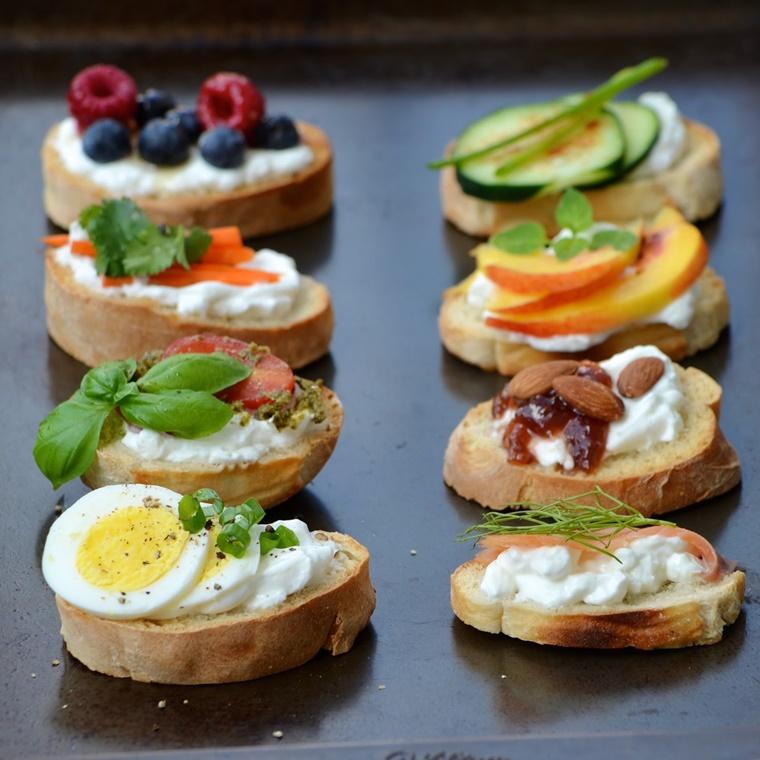 crostini di pane colazione diversa originale