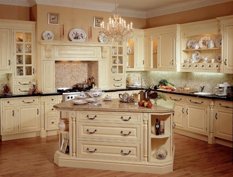 cucina beige classica elegante dettagliata