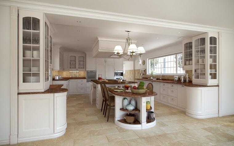 cucina beige grande dettagli legno