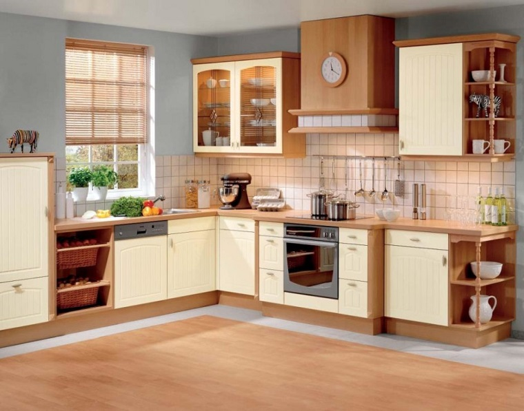 cucina beige moderna design contemporaneo