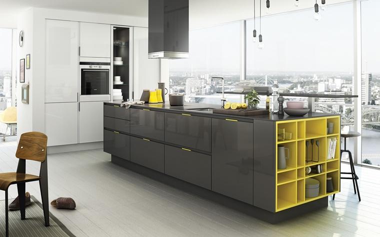 Sedie Gialle Ikea : Cucina grigia idee suggerimenti di armonia ed eleganza archzine.it