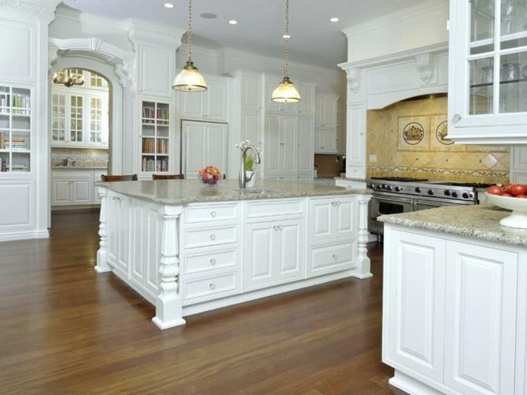 cucina isola rustica classica elegante