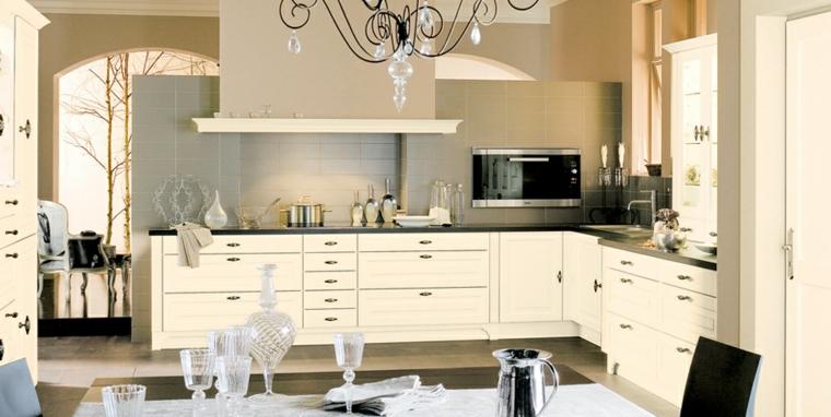 cucina moderna beige semplice elegante