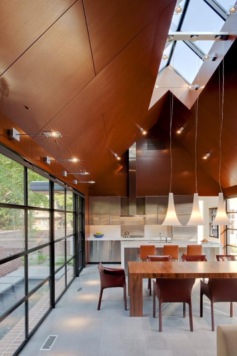 Luci Per Tettoia In Legno illuminazione tetto in legno - idee innovative e di stile