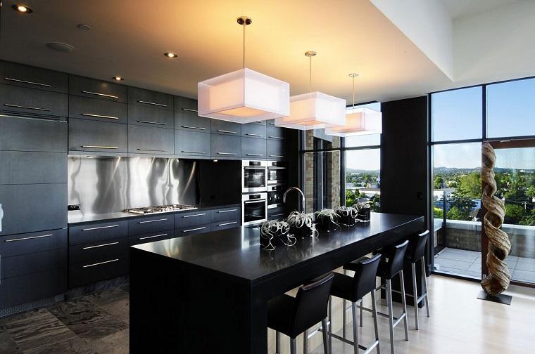 Cucina nera: l\'eleganza intramontabile di uno spazio vissuto ...
