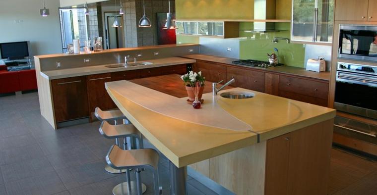cucina piano moderno design particolare legno