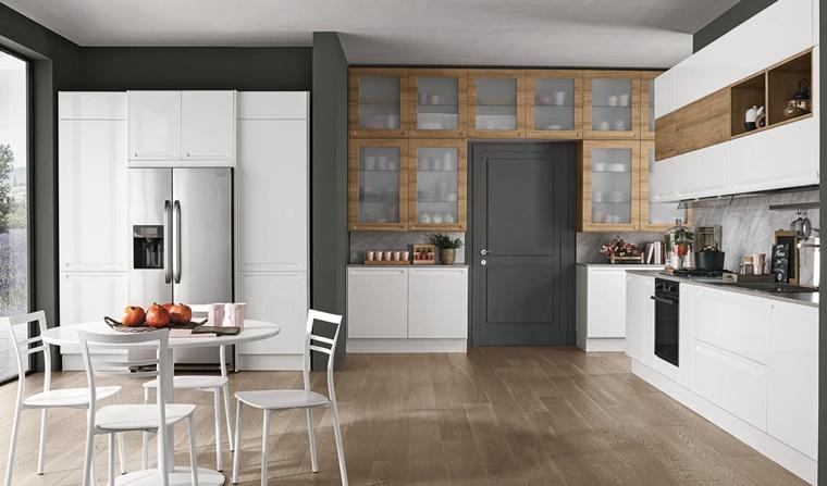 Credenza A Muro Moderna : Cucine bianche abbinamento perfetto con lo stile moderno