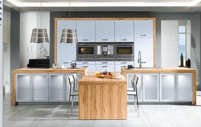 cucine bianche legno idea design
