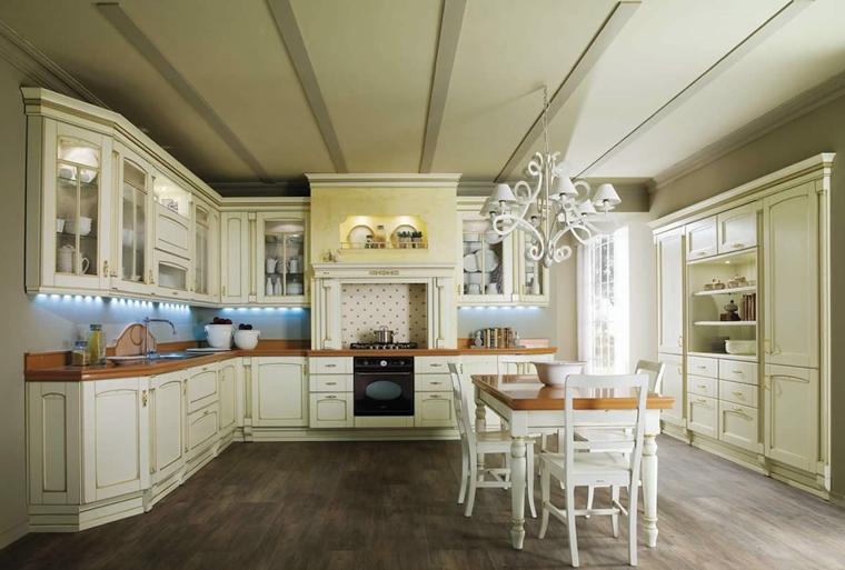 Cucine bianche moderne con inserti in legno le nuove for Foto cucine moderne bianche