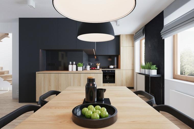 Cucine moderne bianche e nere - 10 idee in piu' per arredare la cucina