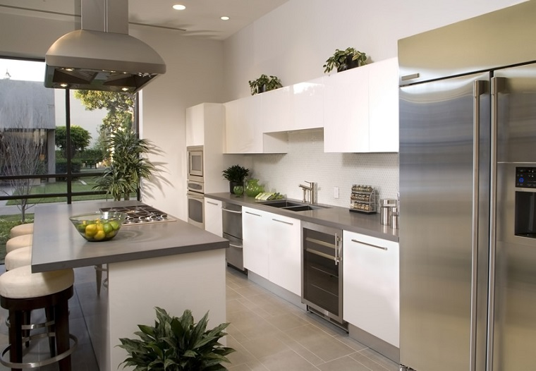 Cucine moderne bianche - una scelta innovativa e particolare ...