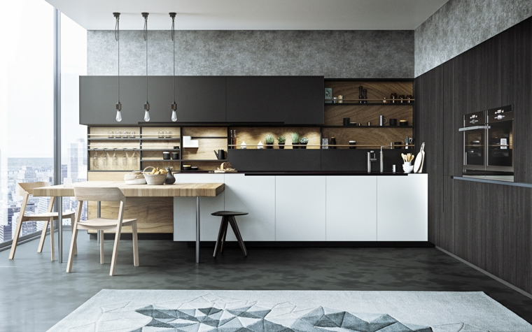Cucine Moderne Scure.Cucine Moderne Bianche E Nere 10 Idee In Piu Per Arredare