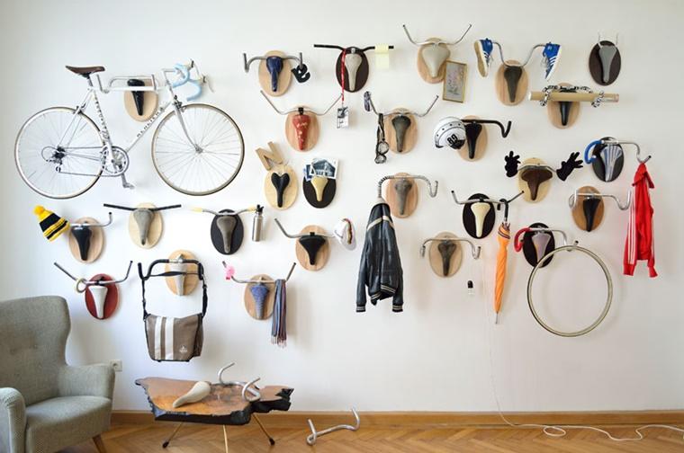 decorare casa parete tema originale bicicletta