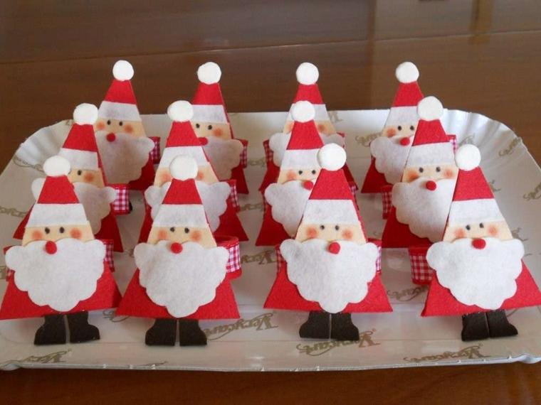 decorazinoni natalizie babbo natale segnaposto