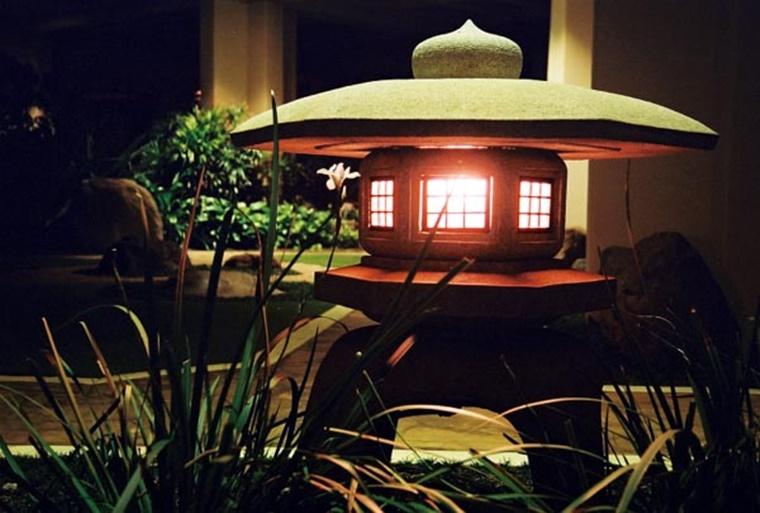 decorazione giardino lanterna stile giapponese