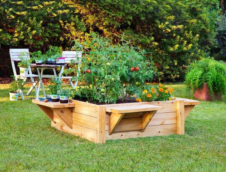 decorazione giardino orto originale legno