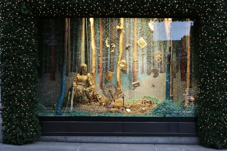 decorazione natalizia stravagane elementi dorati