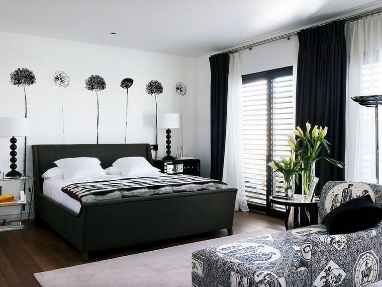 decorazione pareti lampade stelo stanza letto moderna