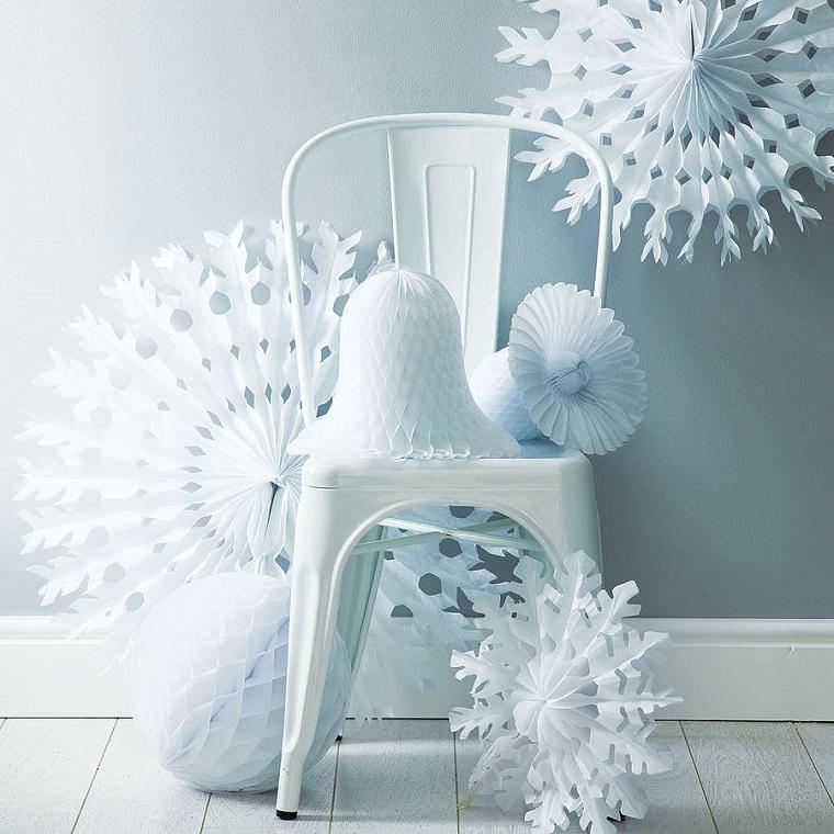 decorazioni bianco carta festeggiare natale