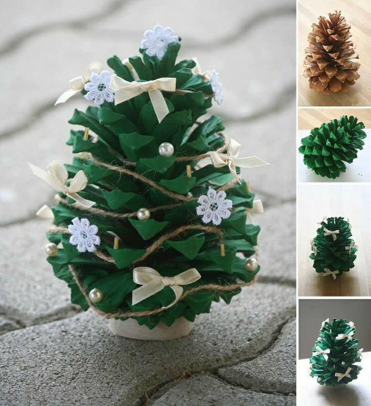 decorazioni bimbi semplici albero verde carta