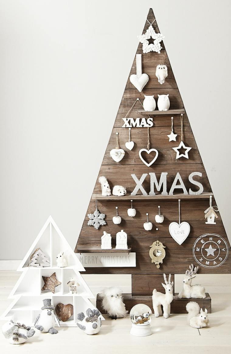 decorazioni di natale albero decorato legno