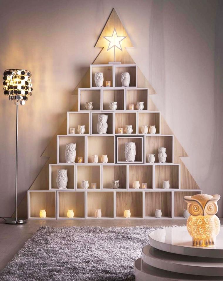 decorazioni di natale legno forma albero