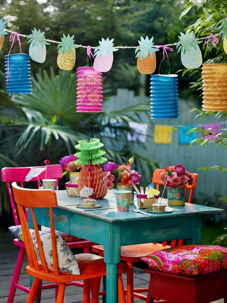 decorazioni fai da te estive giardino