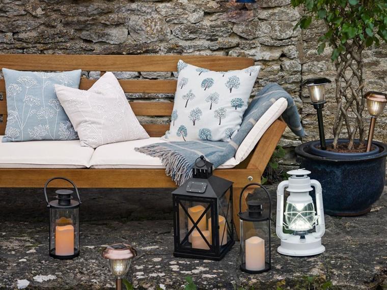Lanterne Da Giardino Fai Da Te : Decorazioni fai da te per un giardino dal design originale