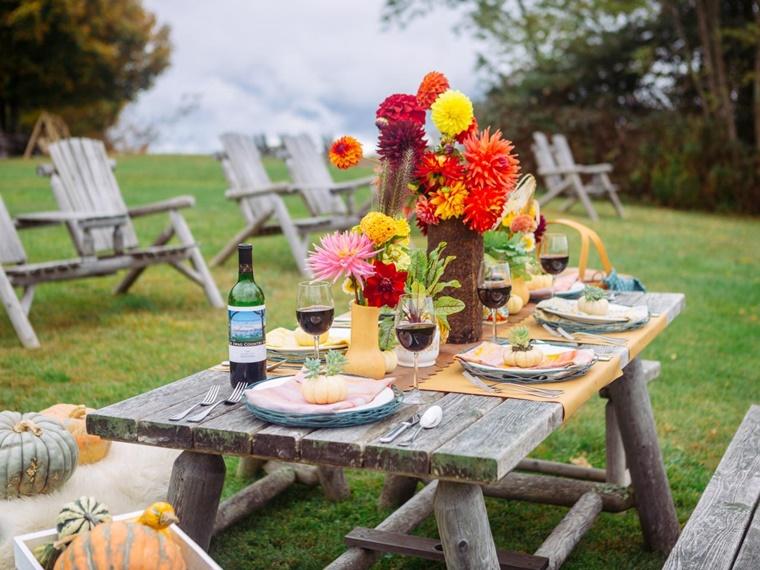 decorazioni fai da te giardino tavolo stile rustico