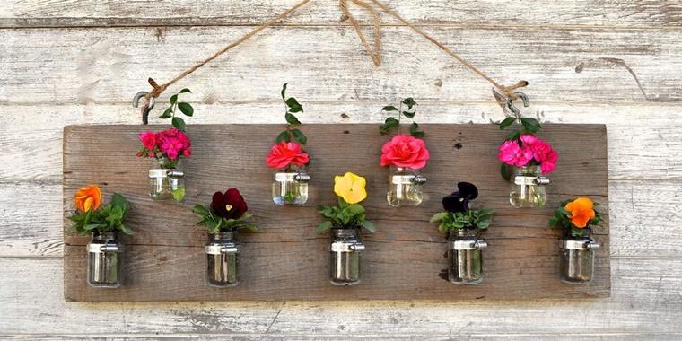 decorazioni fai da te giardino vasi fiori