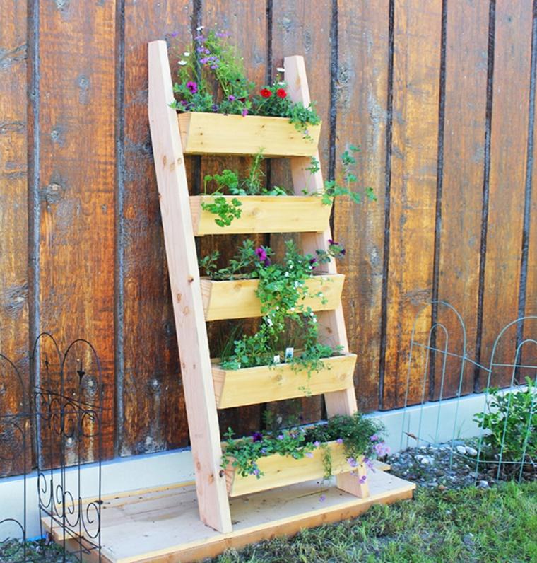decorazioni fai da te giardino verticale