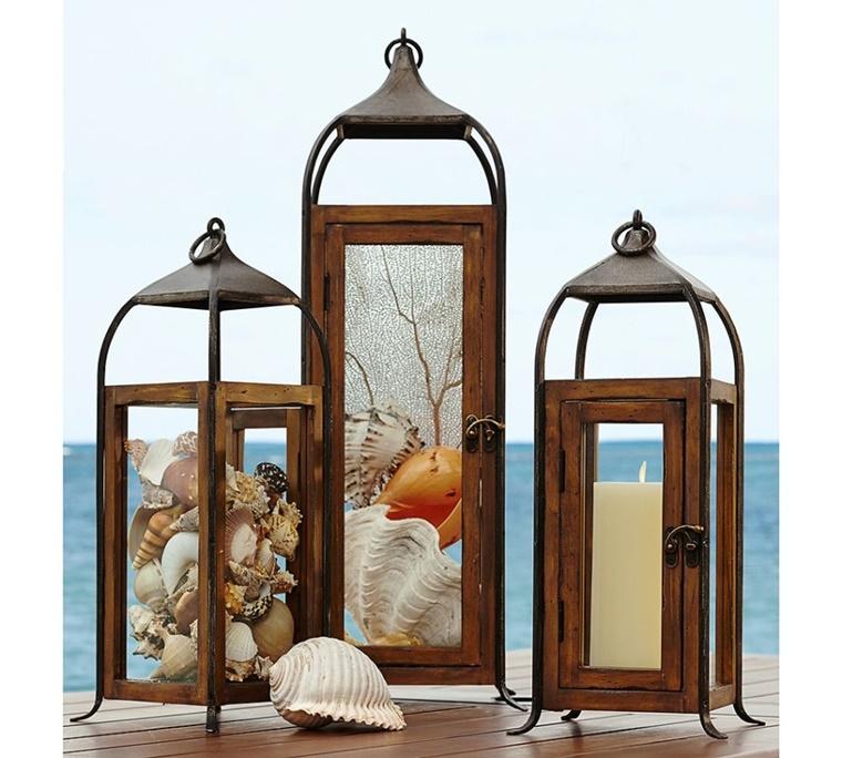 decorazioni fai da te outdoor lanterne legno