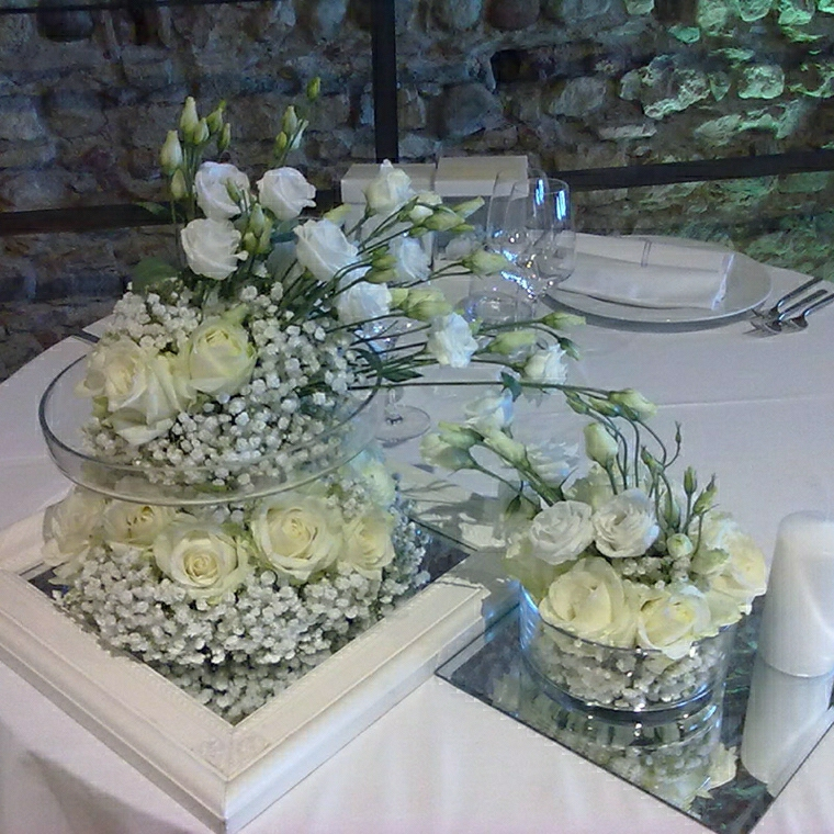 decorazioni matrimonio fiori tavolo elegante