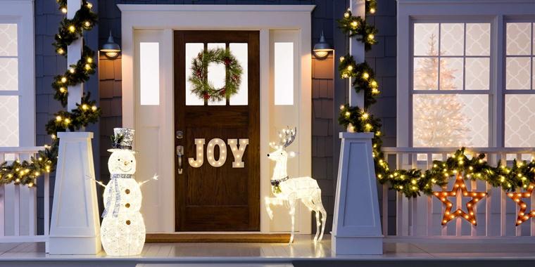 decorazioni natalizie addobbi ingresso casa