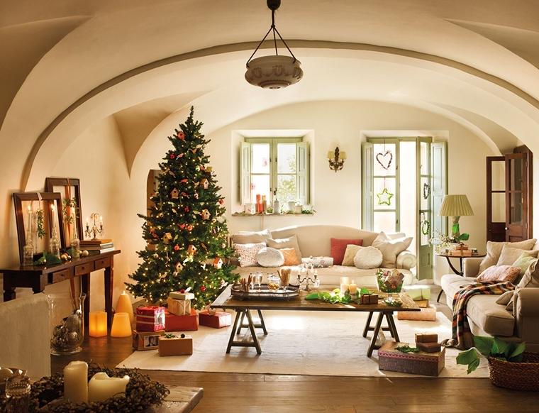 decorazioni natalizie albero natale soggiorno regali