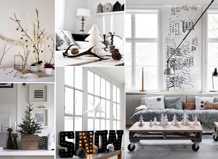 decorazioni natalizie bianco nero creazioni oggetti bellissimi