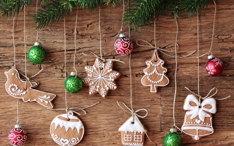 decorazioni natalizie biscotti addobbi natale