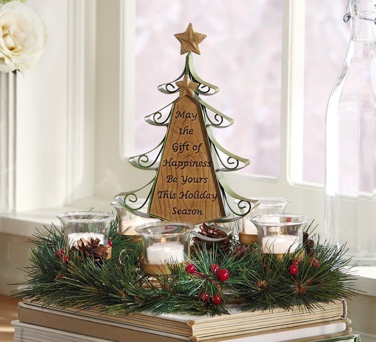 decorazioni natalizie centrotavola fatte mano