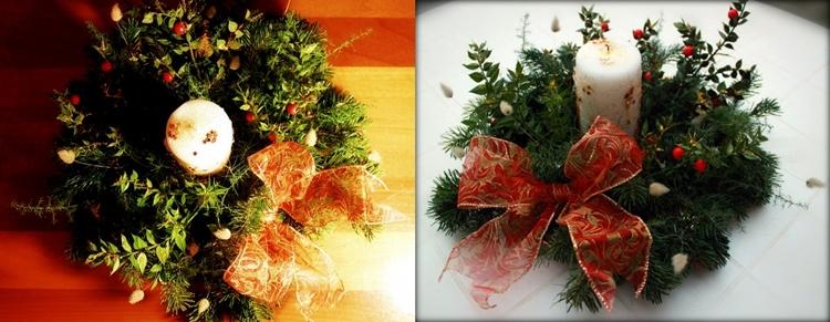 decorazioni natalizie fatte mano centritavola orginali