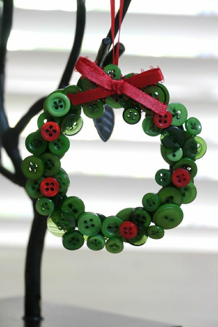 decorazioni natalizie per bambini bottoni colorati