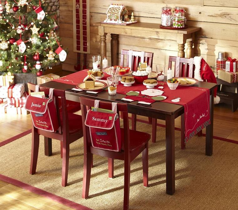 decorazioni natalizie tavolo giorno natale